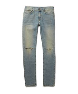 Saint Laurent | Skinny-Fit 15cm Hem Distressed Stretch-Denim Jeans