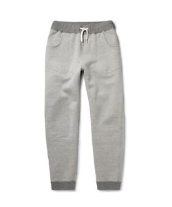 Beams Plus | Slim-Fit Tapered Fleece-Back Cotton-Jersey Sweatpants Gray