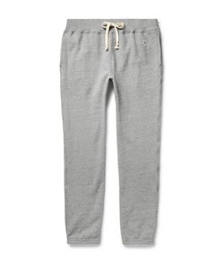 Todd Snyder + Champion | Tapered Fleece-Back Cotton-Blend Jersey Sweatpants Gray
