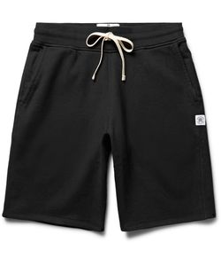 Reigning Champ | Loopback Cotton-Jersey Shorts Black