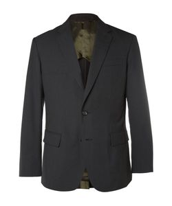 Marvy Jamoke | Beams Black Slim-Fit Ripstop Blazer Black