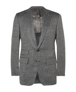 Thom Sweeney | Grey Slim-Fit Wool Silk And Linen-Blend Suit Jacket Gray