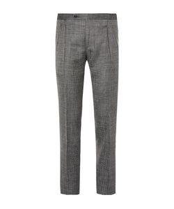 Thom Sweeney | Grey Slim-Fit Wool Silk And Linen-Blend Trousers Gray