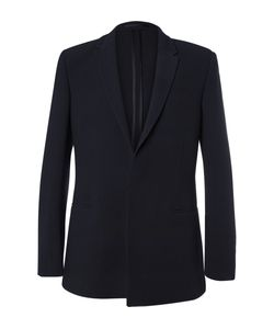 Kilgour | Navy Textured Wool-Blend Suit Jacket Blue