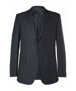 Kilgour | Navy Wool And Silk-Blend Suit Jacket Blue