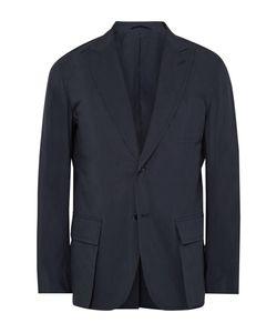 Camoshita | Blue Slim-Fit Textured Cotton-Blend Blazer Blue