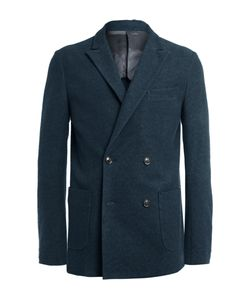 CASELY-HAYFORD | Navy Koston Slim-Fit Double-Breasted Textured-Cotton Suit Jacket Blue