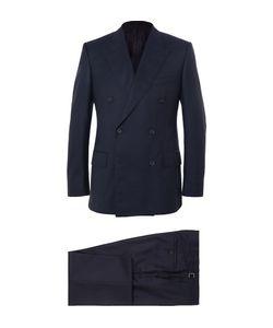 Kingsman   Navy Harry Slim-Fit Super 120s Wool And Cashmere-Blend Suit Blue