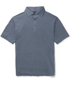 DESCENTE | S.I.O. Slim-Fit Stretch-Jersey Polo Shirt Gray