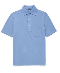 RUBINACCI | Slim-Fit Cotton-Piqué Polo Shirt Blue