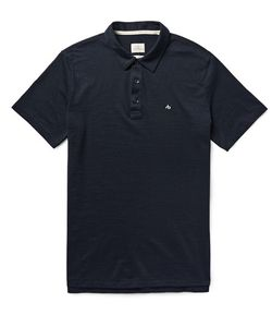Rag & Bone   Standard Issue Cotton-Blend Polo Shirt Blue