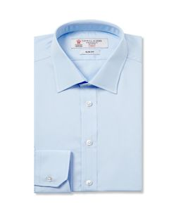 Turnbull & Asser | Blue Cotton Shirt Blue