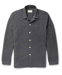 Oliver Spencer Loungewear | Cotton-Flannel Overshirt Gray