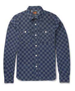 The Workers Club | Slim-Fit Indigo-Dyed Cotton Shirt Blue