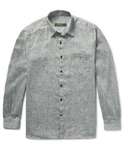 Freemans Sporting Club | Slub Linen Shirt Gray