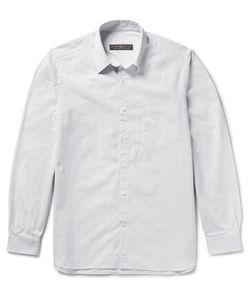 Freemans Sporting Club | Striped Linen Shirt White