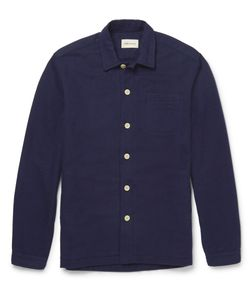 Oliver Spencer Loungewear | Lux Cotton-Flannel Overshirt Blue