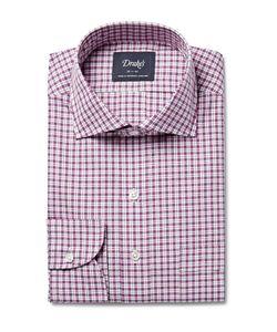 Drake's | Checked Cotton-Poplin Shirt Red