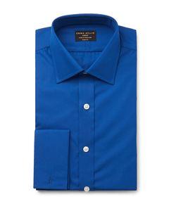 Emma Willis | Blue Double-Cuff Cotton Shirt Blue