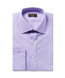 Emma Willis | Lilac Slim-Fit Double-Cuff Cotton Shirt Purple
