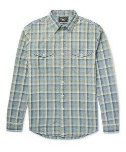 RRL | Slim-Fit Checked Cotton-Flannel Shirt Green