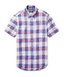 Gitman Vintage | Checked Linen Shirt Blue