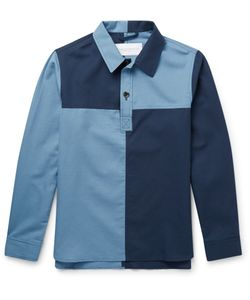 Private White V.C. | Cotton Rugby Shirt Blue