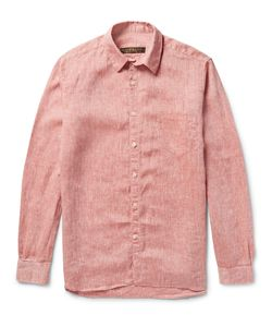 Freemans Sporting Club | Slub Linen Shirt Red
