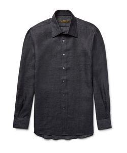 Freemans Sporting Club | Slim-Fit Linen Shirt Black