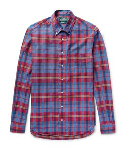 Gitman Vintage | Button-Down Collar Checked Cotton Shirt Red