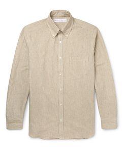 Private White V.C. | Slim-Fit Button-Down Collar Striped Cotton Shirt Neutrals