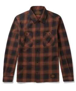 Neighborhood | Slim-Fit Checked Cotton-Flannel Shirt Red