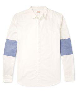 Kapital   Contrast-Panelled Cotton Shirt White