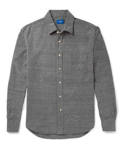 Beams | Japan Slim-Fit Brushed-Cotton Oxford Shirt Gray