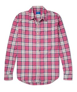 Beams | Japan Slim-Fit Plaid Cotton Shirt Red