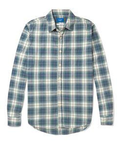 Beams | Japan Slim-Fit Plaid Cotton Shirt Blue