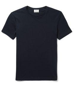 Acne Studios | Eddy Slim-Fit Cotton-Piqué T-Shirt Blue
