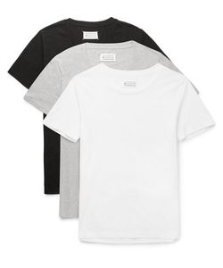 Maison Margiela | Three-Pack Slim-Fit Cotton T-Shirts White