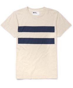 MARGARET HOWELL | Mhl Slim-Fit Striped Cotton And Linen-Blend T-Shirt Neutrals