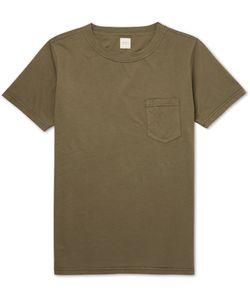 Albam | Garment-Dyed Cotton T-Shirt Green