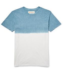 MOLLUSK | Dip-Dyed Hemp And Organic Cotton-Blend Jersey T-Shirt Blue