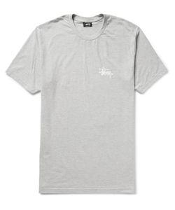 Stüssy | Printed Cotton-Jersey T-Shirt Gray