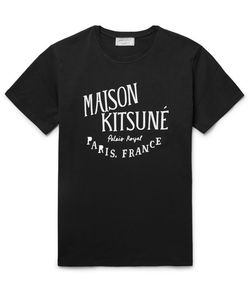 Maison Kitsune | Printed Cotton T-Shirt Black