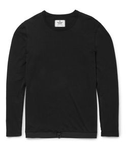 Reigning Champ | Drawstring-Hem Cotton-Jersey T-Shirt Black