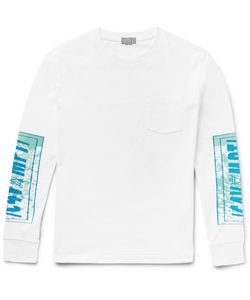 CAV EMPT | Printed Cotton-Jersey T-Shirt White
