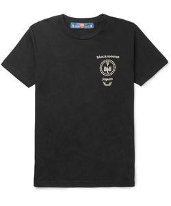 Blackmeans | Printed Cotton-Jersey T-Shirt Black