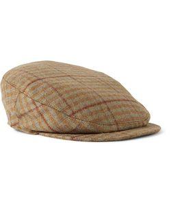 Musto Shooting | Checked Wool-Blend Tweed Flat Cap Brown