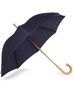 LONDON UNDERCOVER | City Fleck Malacca Wood-Handle Umbrella Blue