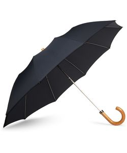 LONDON UNDERCOVER | Maple-Handle Collapsible Umbrella Blue