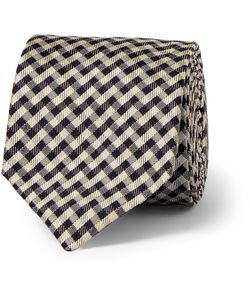 Marwood | Patterned Woven Silk Tie Black